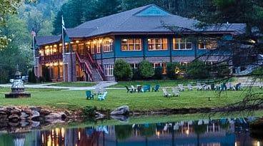 Cabin and lake