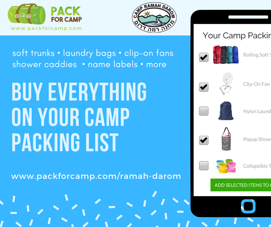 Buy everything on your camp packing list graphic