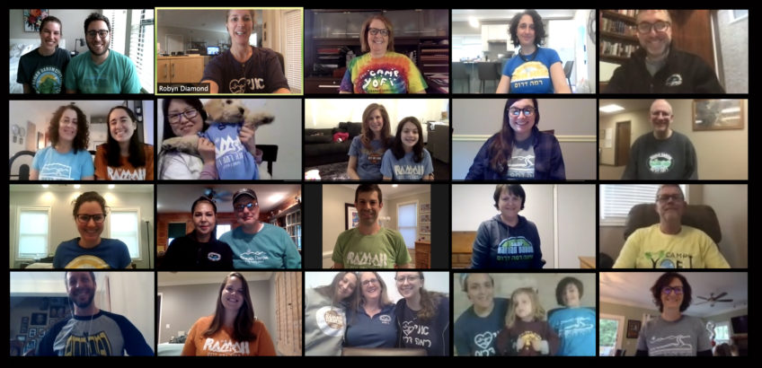 Ramah Darom Staff on Ramah T-Shirt Day