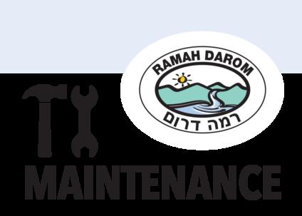 Ramah Darom Maintenance Request graphic