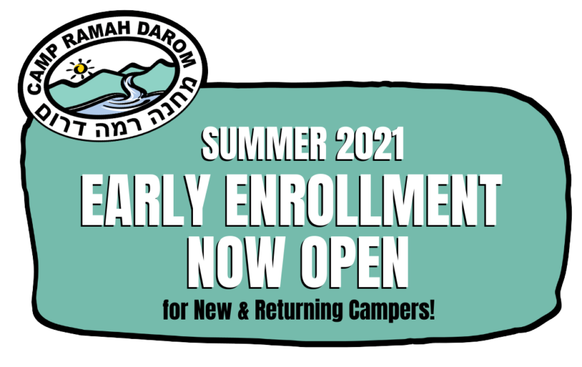 Camp Ramah Darom Summer 2021 Early Enrollment Now Open for New and Returning Families
