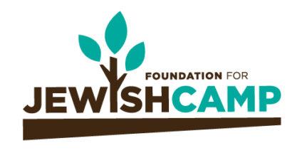Foundation for Jewish Camp Logo