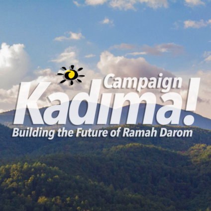 Kadima Campaign with done shot of Ramah Darom in background.